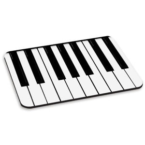 300x300 Piano Keys Keyboard Pc Computer Mouse Mat Pad