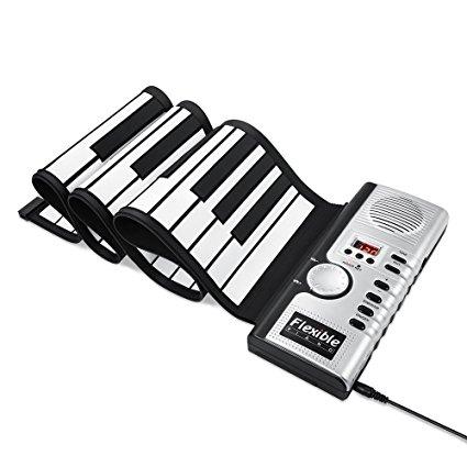 425x425 New Upgraded Alwoa Roll Up Keyboard Piano, 4 Modes 61