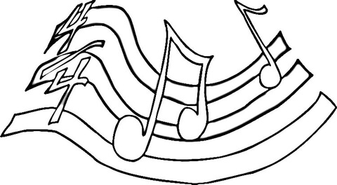 480x264 Printable Music Note Coloring Pages Coloring Me