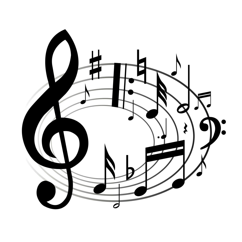 1224x1224 Drawn Music Notes Clipart Transparent