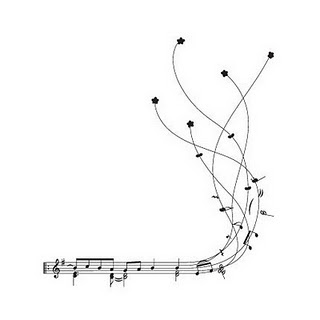 320x320 Drawn Music Notes Line Drawing