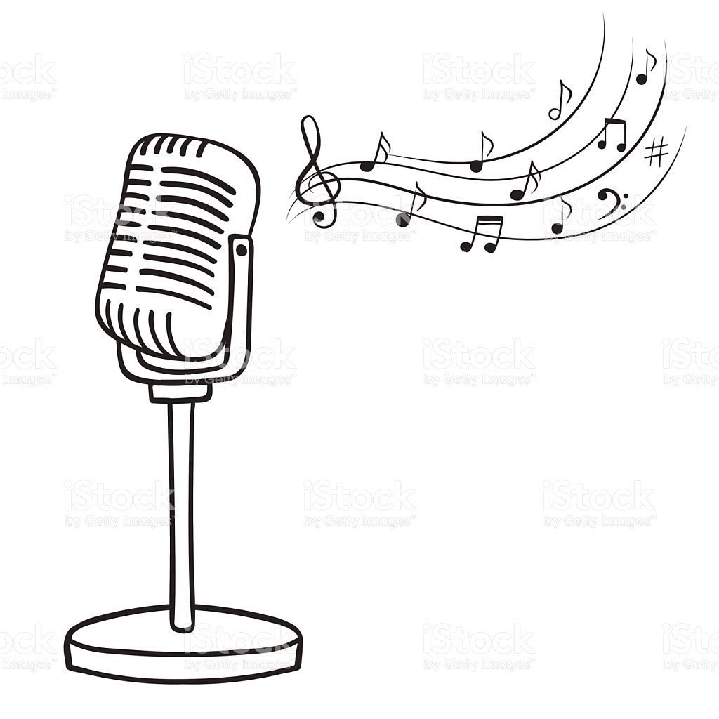 1024x1024 Drawn musical radio microphone