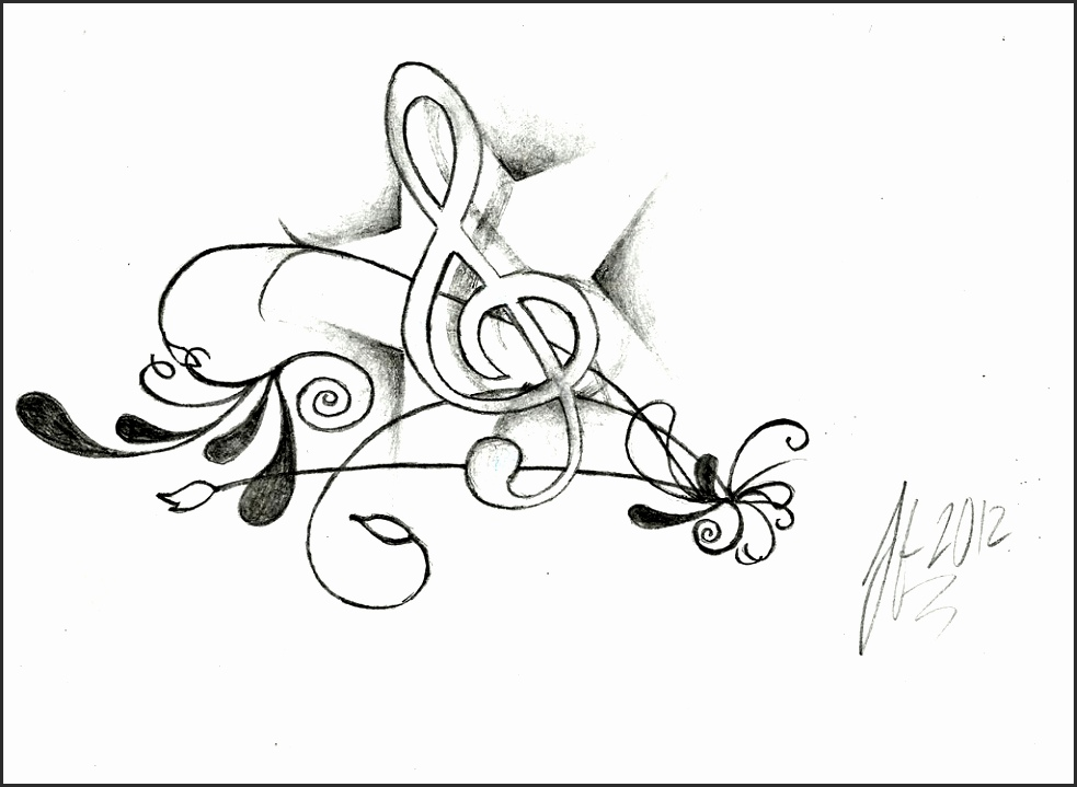 983x719 How To Draw Musical Notes Dnyip Elegant Drawn Music Notes Pencil