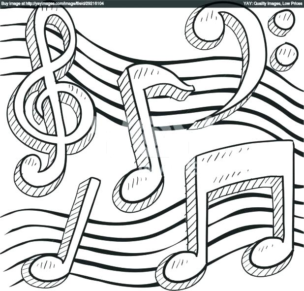 618x591 Music Notes Coloring Music Notes Drawing Coloring Page Music Notes