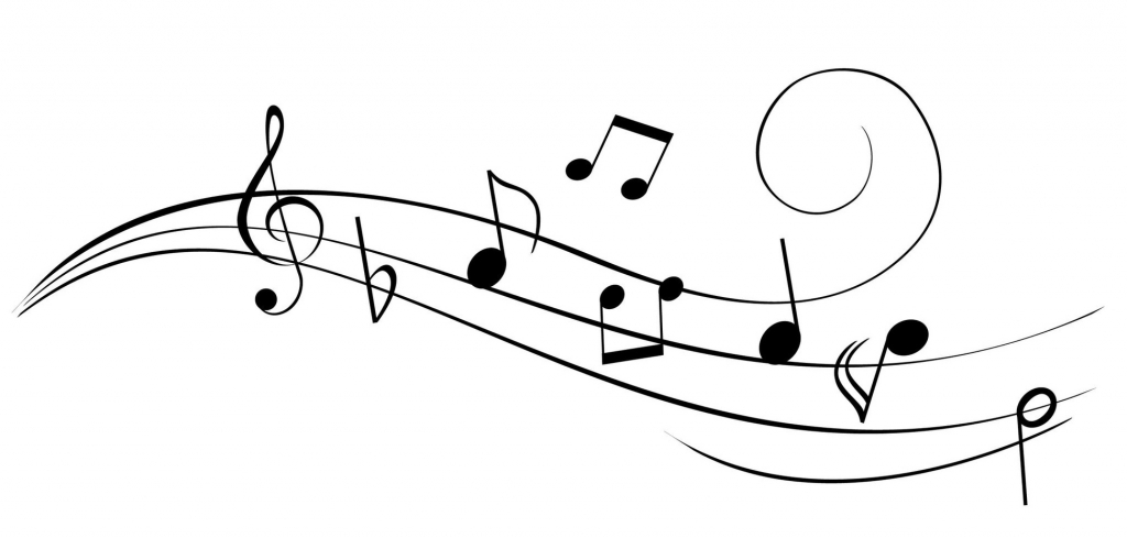 1024x489 Music Notes Drawings Music Notes Drawings Clipart Free To Use Clip