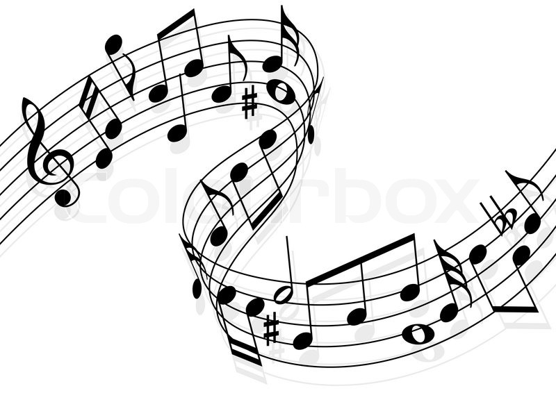 800x566 Music notes Stock Vector Colourbox