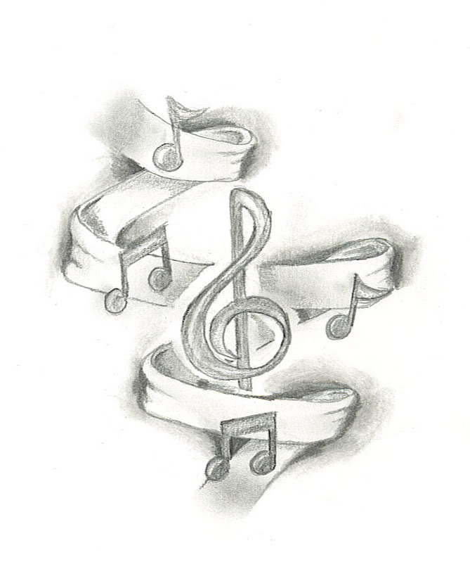 669x799 Best Photos of Music Note Drawings