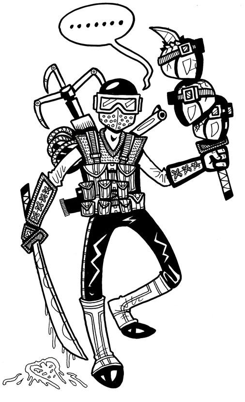 506x830 Ethan Mongin Illustration Design G. I. Joe Fan Art Snake Eyes