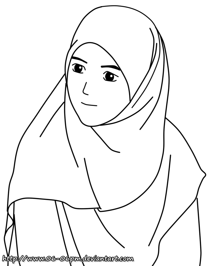Muslim Girl Drawing