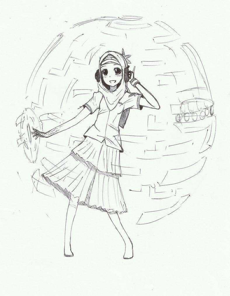 788x1013 Modern Muslim Girl By Aganoryu