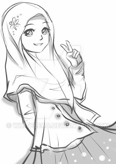 Best Pencil Sketch Islamic Anime Couple Drawing
