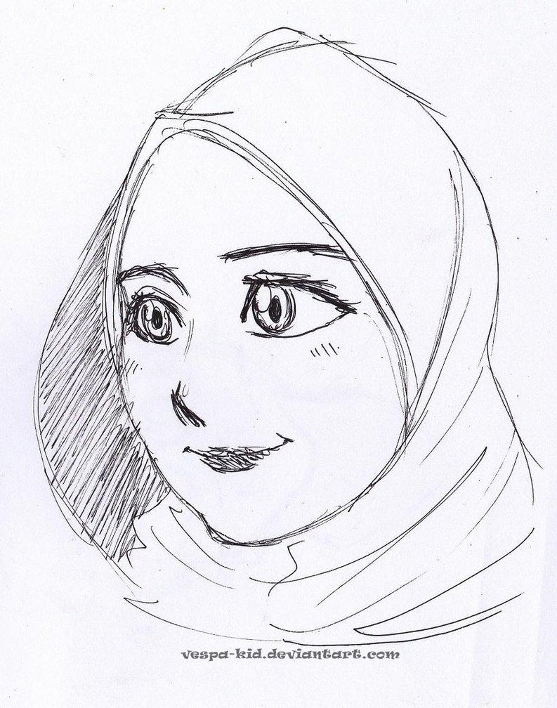 793x1008 Muslimah Girl By Vespa Kid