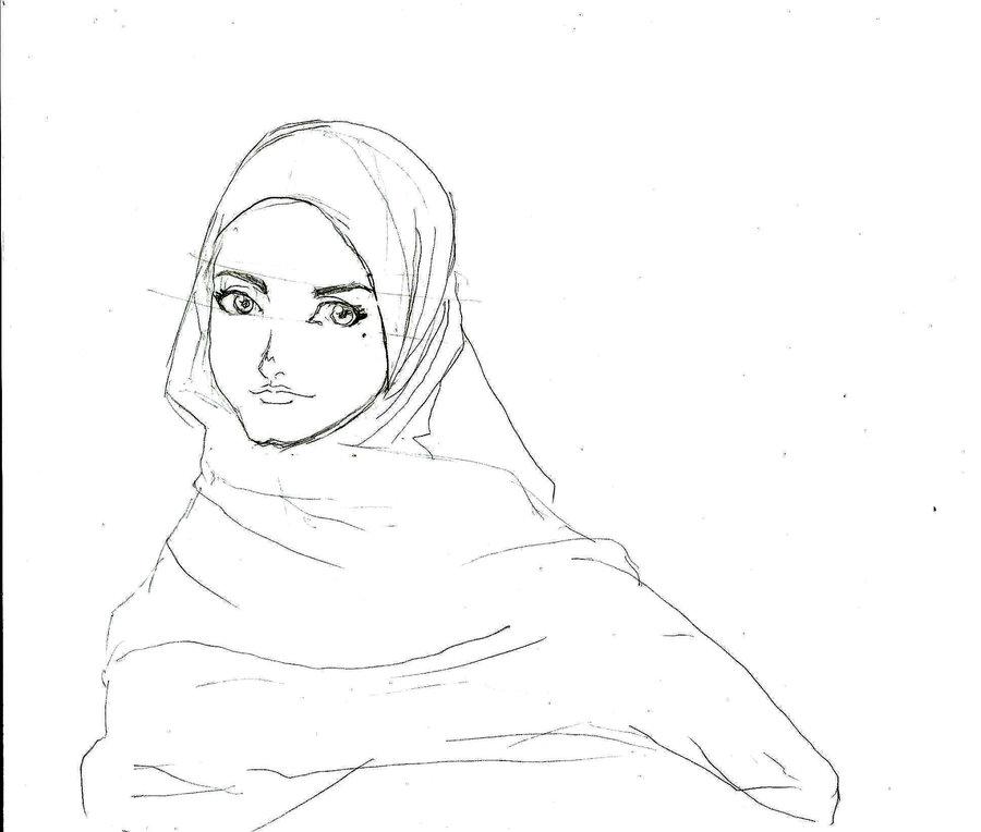 900x764 Muslimah Sketch By Namikpasha