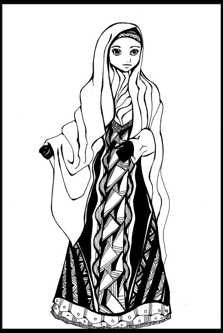 732x1091 Muslimah Fashion Dress By Hikariwing21