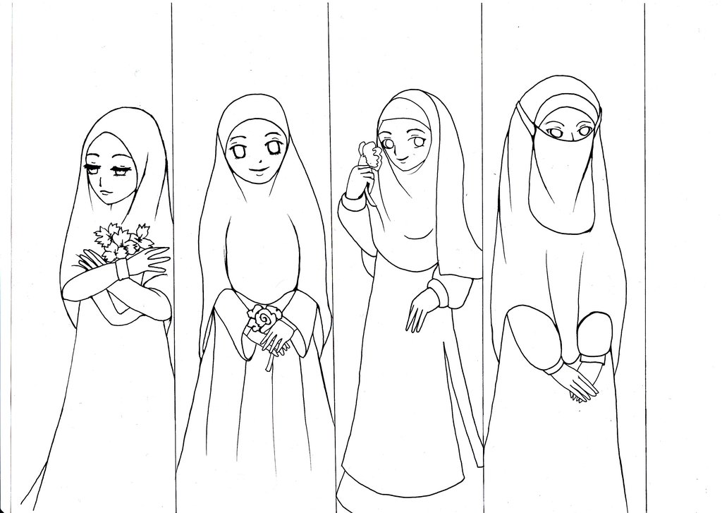 1024x727 Old Drawing 2013 Muslimah By Glowingradiance