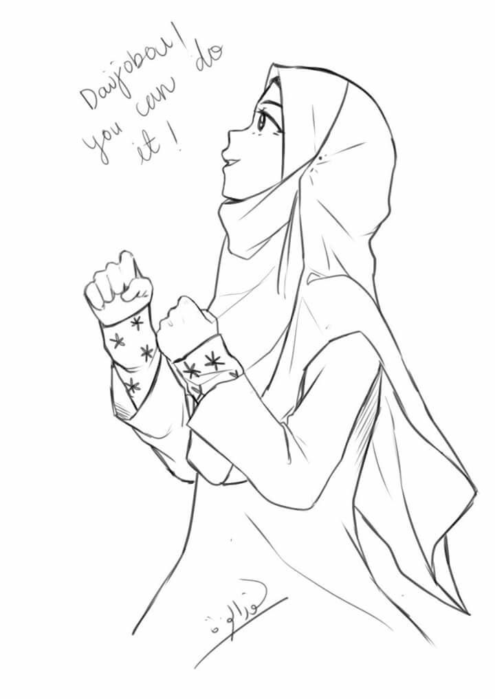 720x1017 Pin By Hasanatul Hayati On Muslim Amp Muslimah [Animedrawing