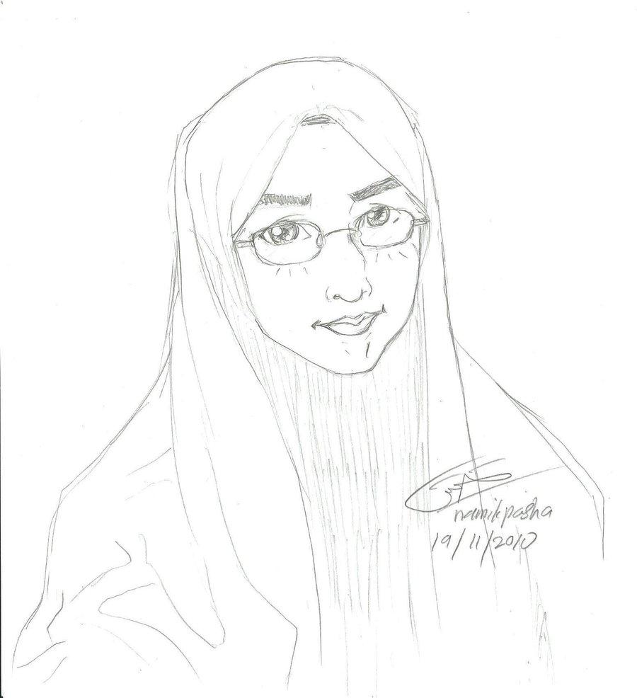 900x986 Sketch Specky Muslimah By Namikpasha