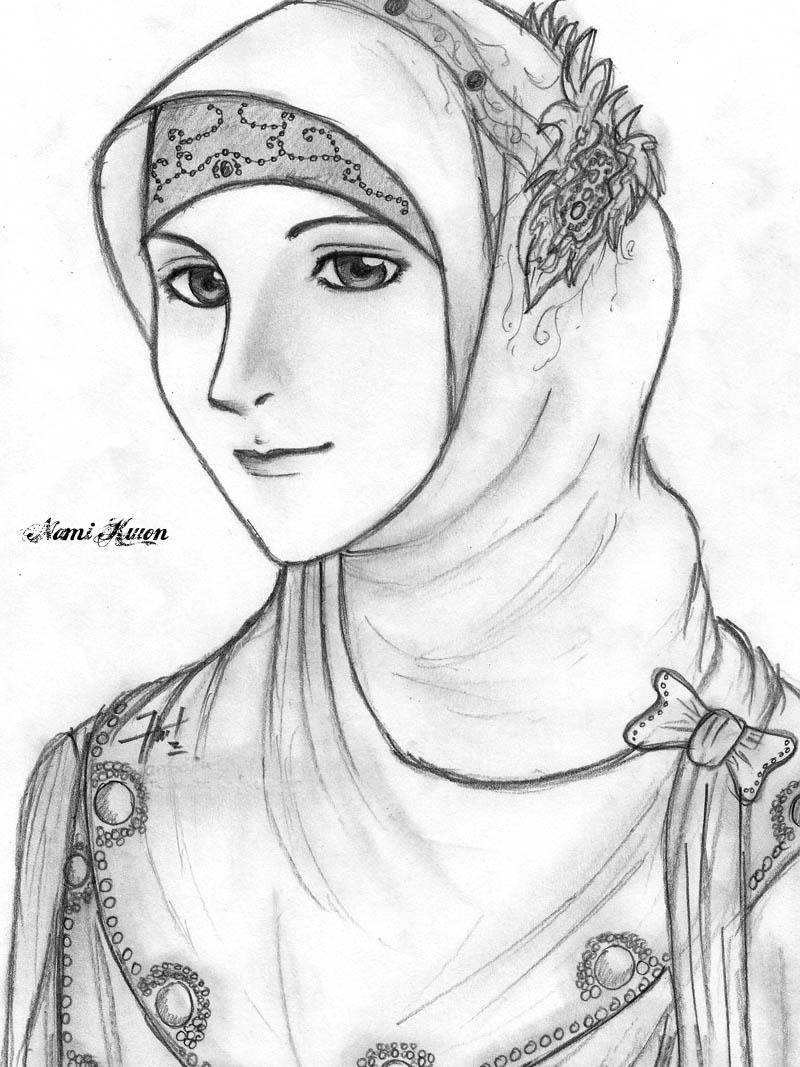 800x1067 Sketch] Beauty Muslimah Zev Art