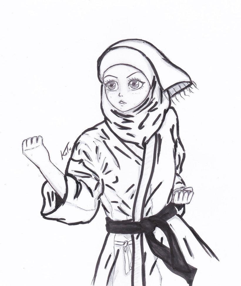 820x974 Girl Karate By Mangaiq