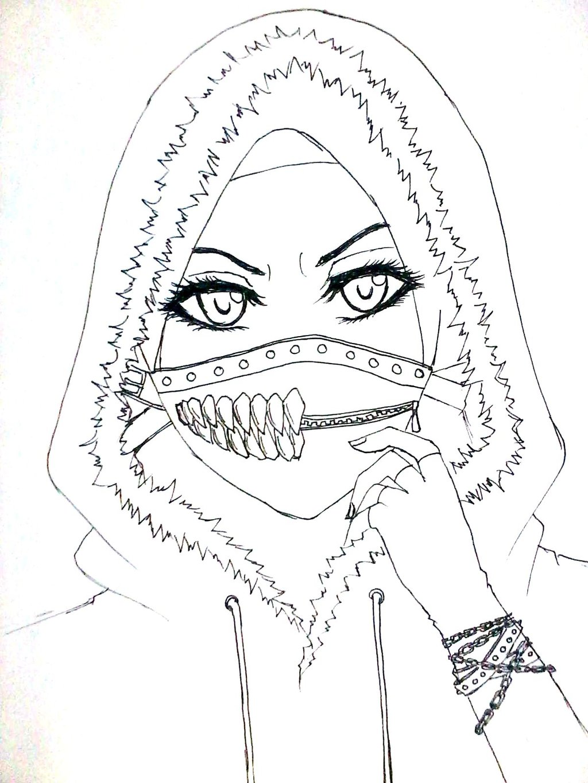 1024x1365 Cool Muslimah Girl By Aikakurookami