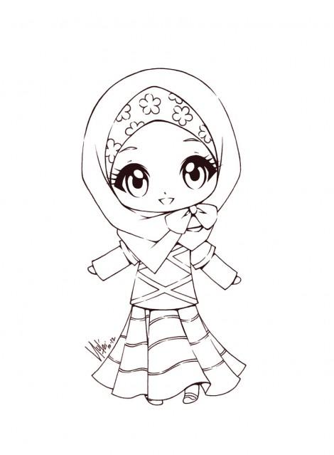470x639 Islamic Art Gallery Cute Little Muslimah Islamic Studies