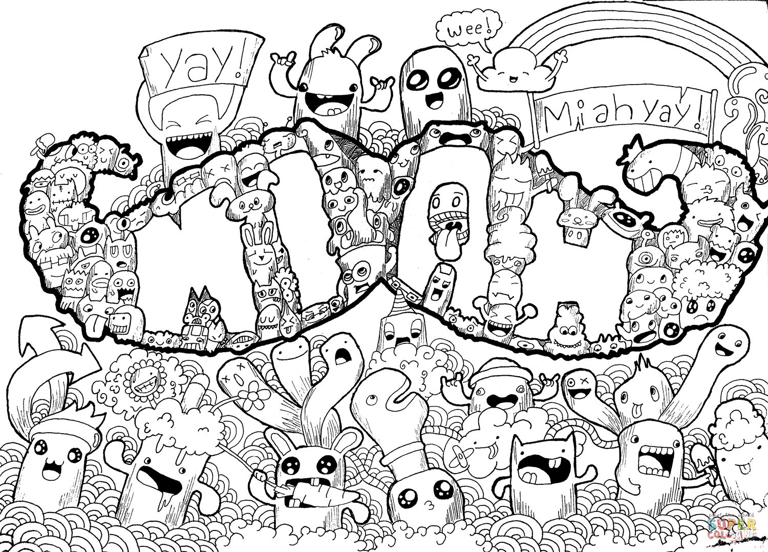 1500x1077 Excellent Mustache Doodle Coloring Page With Pages