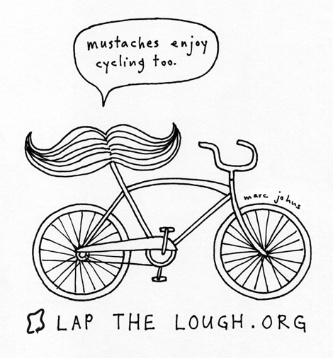 470x506 Marc Johns Mustaches Enjoy Cycling Too A Drawing For Lap