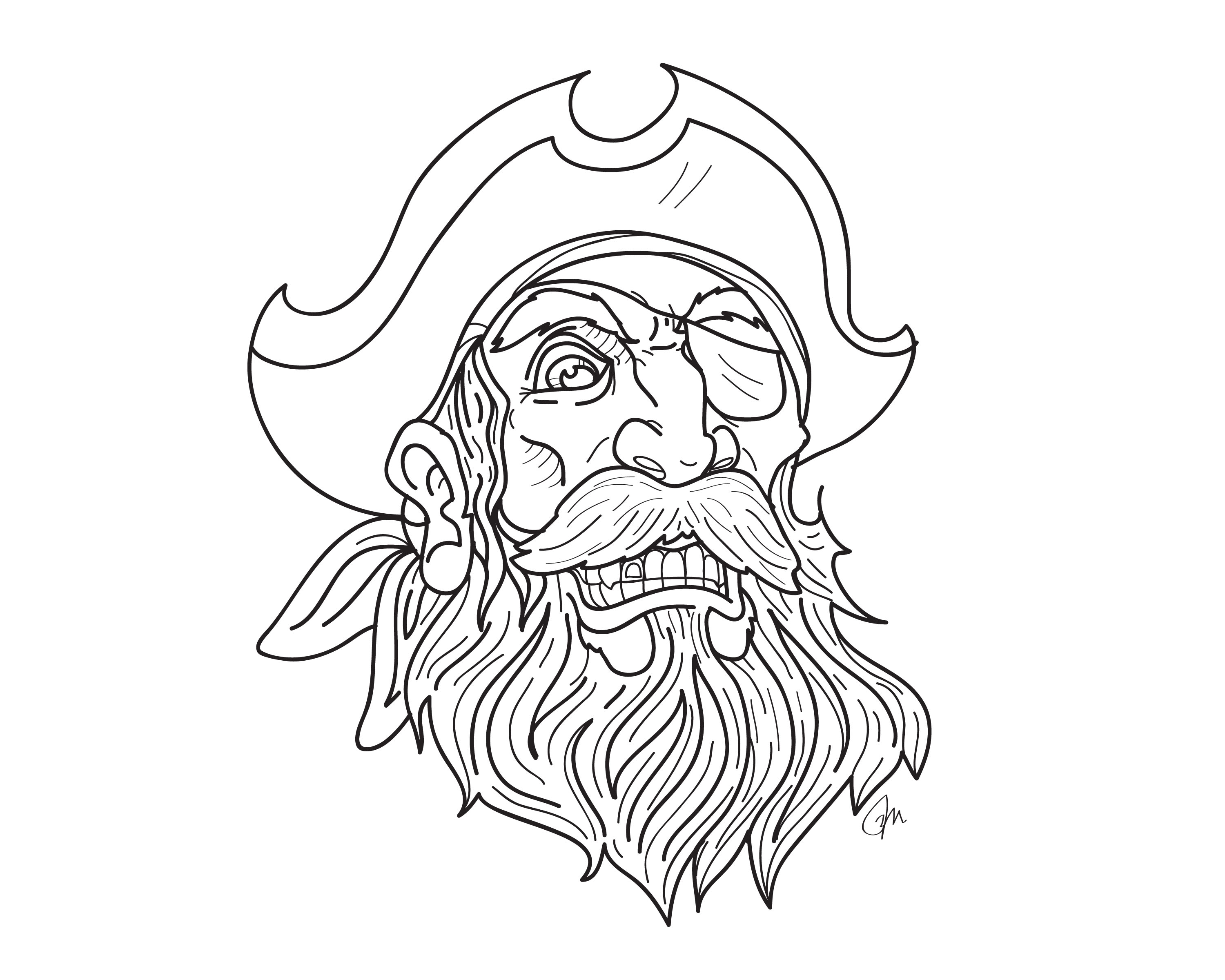 3000x2400 Pirate Tattoo Beard And Mustache With Gold Tooth And Eye Patch