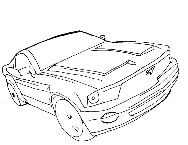 736x568 Mustang Car Coloring Pages Car Coloring Pages Drawing Mustang