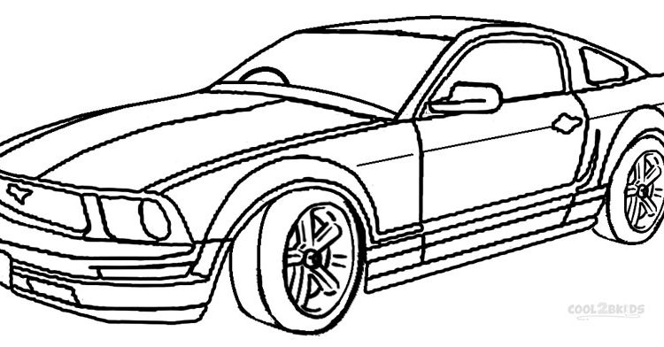750x392 Mustang Car Coloring Pages. Perfect Sports Car Coloring Pages Free
