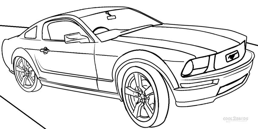 850x425 Printable Mustang Coloring Pages For Kids Cool2bkids Car
