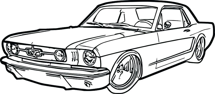 863x378 Mustang Car Coloring Pages