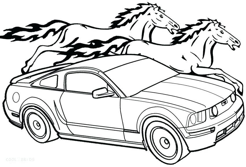 850x578 Ford Mustang Gt Coloring Pages Coloring Page For Kids