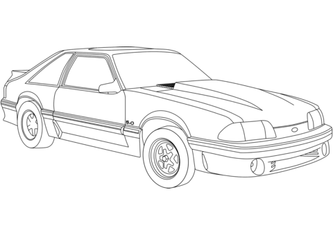 480x339 Ford Mustang Coloring Page Free Printable Coloring Pages
