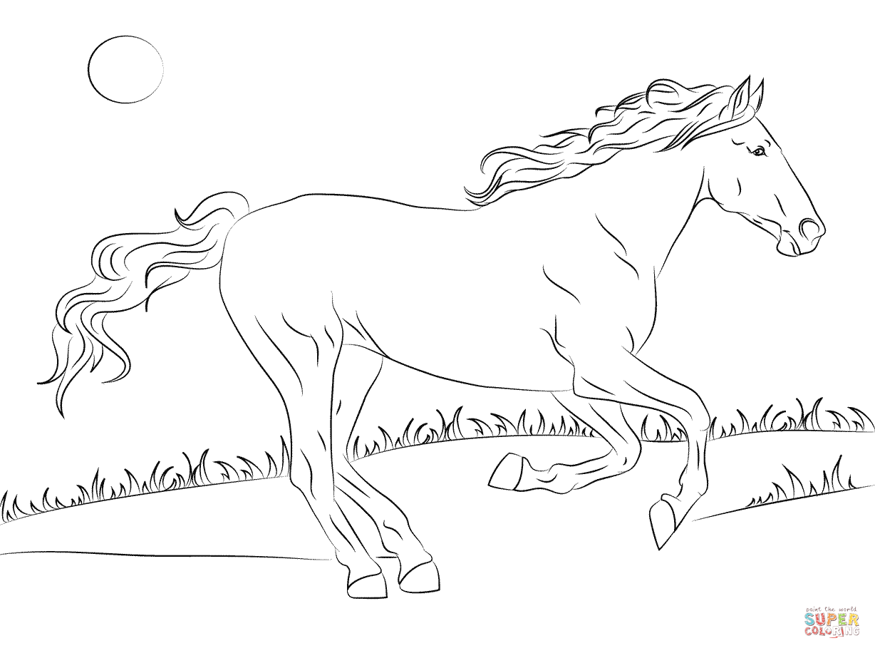 1228x916 Horse Coloring Pages Free Printable In Amusing Print Draw