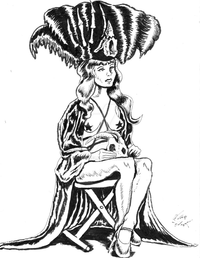 788x1015 Dr.sketchy's Model Maila Mustang Ink Drawing By Funnyfuse1