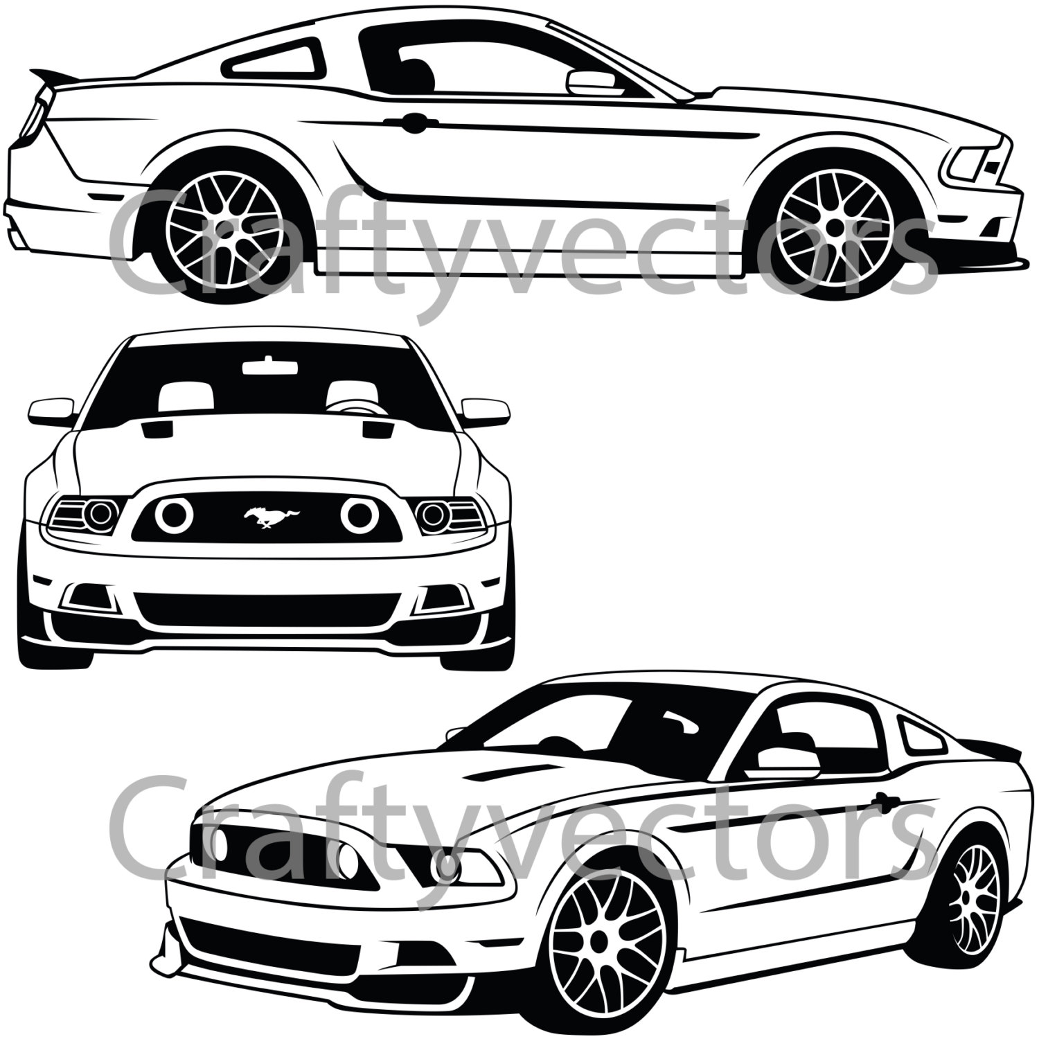 1500x1500 Ford Mustang 2013 Vector File