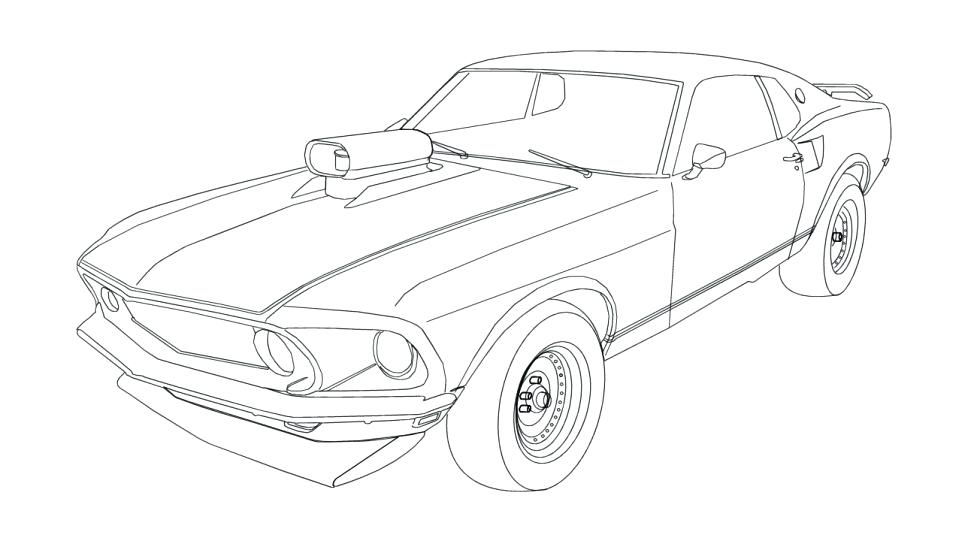 974x541 Mustang Coloring Pages Printable For Kids
