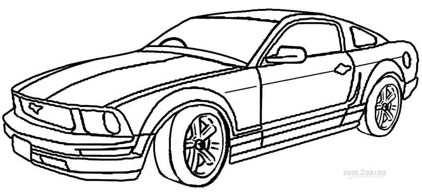 850x392 Printable Mustang Coloring Pages For Kids Cool2bkids Car