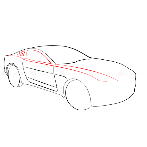 500x500 Ford Mustang Giugiaro Concept How To Draw Cars How To Draw