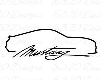mustang logo drawings