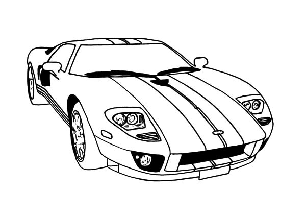 600x423 Ford Gt Car Mustang Coloring Pages Ford Gt Car Mustang Coloring