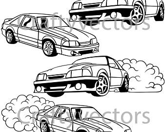 340x270 Ford Mustang 2015 Vector Svg Cut File
