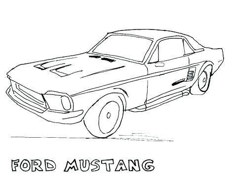 474x366 Ford Mustang Coloring Pages Car Mustang Coloring Pages For Kids
