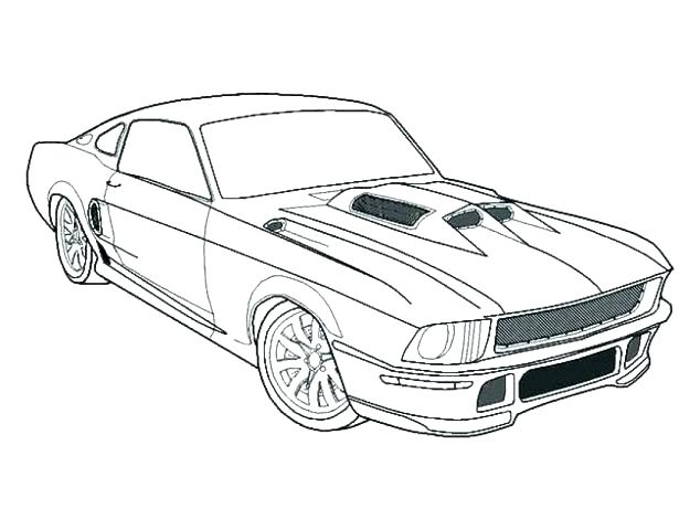 615x461 Mustang Coloring Pages Mustang Coloring Page Car Ford Mustang Gt