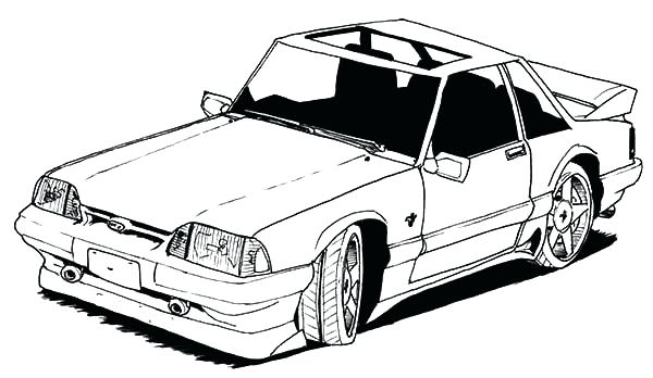 600x348 Mustang Coloring Pages Old Car Mustang Coloring Pages Mustang