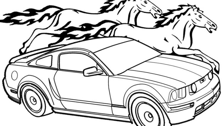 750x425 Mustang Coloring Pages Printable Mustang Coloring Pages For Kids