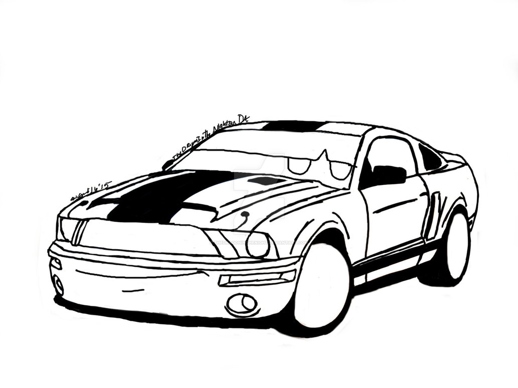 Mustang Gt Drawing At Free For Personal Use 2011 Gt500 Fuse Box 1032x774 2008 Shelby Super Snake Request By Thedragoninthenight