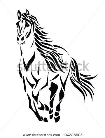 360x470 Gallery For Gt Mustang Horse Drawing Running Horse Tattoo