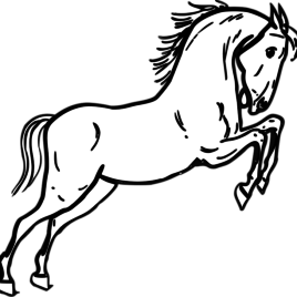 268x268 Mustang Horse Coloring Page Archives